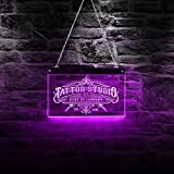 The Geeky Days Tattoo Studio Custom LED Neon Sign Custom Tattoo Salon Company Name Vintage Logo Business Wall Sign with LED Lighting Changes