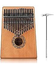 Kalimba 17 Keys Thumb Piano, Achort Draagbare Mahonie Kalimba Houten Vinger Mbira Muziek Instrument met Studie Instructie, Tuning Hammer en Draagtas, Kalimba Gift voor Kinderen en Volwassenen