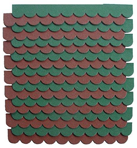 crash-marek 2m²-5-Sets Mini Dachschindeln,braun,Dachpappe,Hundehütte,Vogelhaus,Hasenstall,Gehege,Abdeckung,Biberschwanz,Sandkasten