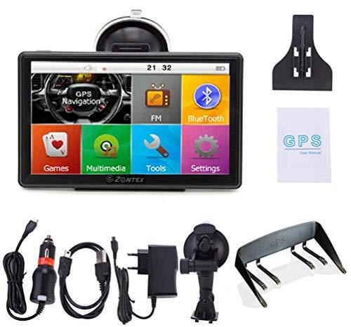 Zontex - GPS-Navigation für Autos, Lastwagen, Verschiedene Navigationsmodi. Vorinstallierte Karten Es verfügt über einen 512 RAM Touchscreen