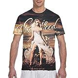 ZeldaRRay Carrie Underwood Men T Shirt Fashion Full Printed Shirts Tee Gift 3XL Black