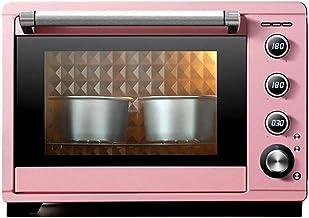 CMmin Encimera Tostador, 38L Capacidad, se Ajusta a 6 Pulgadas de la Torta Tins * 4, Temperatura 0~230 ° C con Horno de la lámpara de Alta Temperatura, Temporizador, Rosa