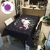 Treer Tischtuch Pflegeleicht, 3D Polyester wasserdichte Rechteckige Tischdecke Abwaschbar Pflegeleicht Eckig Halloween Schmutzabweisend Lotuseffekt Effekt (90x90cm,Star)