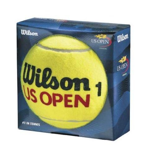 Wilson WRX2096U Pallina da Tennis US Open 9 Jumbo, Ottima come Decorazione e per Autografi, Giallo, 22 cm, Oversize