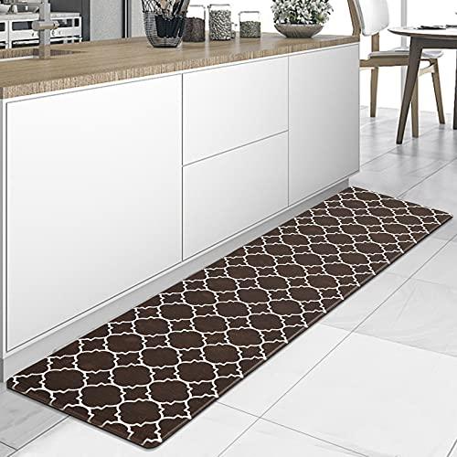 YISUN Anti-Fatigue Mat, Cushioned Kitchen Mat, 17.3'x 59' Waterproof Non-Slip Kitchen Rugs and Mats Heavy Duty Ergonomic Comfort Mat for Kitchen, Floor Home, Office, Sink, Laundry