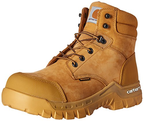 Carhartt Men's 6' Rugged Flex Waterproof Soft Toe Work Boot CMF6056, Wheat NuBuck, 9 M US