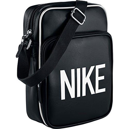 Nike Heritage Ad Small Items Borsa a Spalla, Nero/Bianco, Taglia Unica