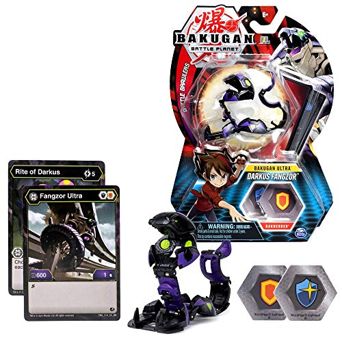 BAKUGAN Ultra, Darkus Fangzor, 3-inch Tall Collectible Transforming Creature, for Ages 6 and Up