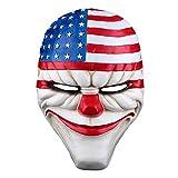 IDS Halloween Resin Dallas Heist Mask Clown Joker Cosplay Costume Props