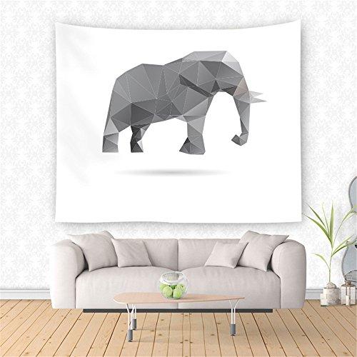 AdoraTapestry Tapiz de Pared Tapestry Wall Hanging Toalla de Playa Beach Towel Yoga Mat Pareos Playa Toalla Mandala Origami Elefante 150x130cm