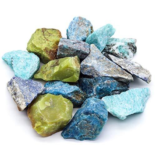 Großes Edelsteine Set (gemischt) 300g | Heilsteine | Edelstein Trinkwasser | Wassersteine | Grundmischung | Kristalle | Mineralsteine | Energetisieren (Vitalmischung Natur)