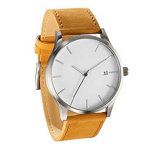 Mens Watches - Lover's Gift Fashion Leather Band Quartz Wrist Watch Classic Timepiece by Sameno Watch Liberté Relojes