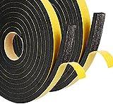 Dichtungsband Selbstklebend, Schaumstoff Dichtungsband (10X12X6, schwarz)