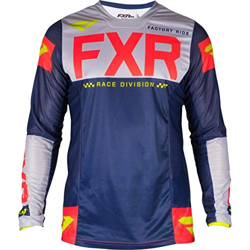 NEWMotocross Hemd Motorradjacke Off-Road-T-Shirt-Fahrfahrrad Langarm-Hemd Motocross Jersey Moto Jersey Zzzb (Color : Silver, Size : XXL)
