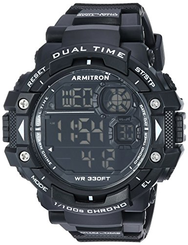 Armitron Sport Men's 40/8309BLK Digital Chronograph Black Resin Strap Watch
