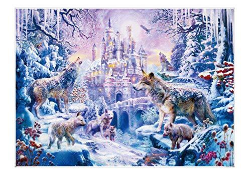 EACHHAHA Puzzle 1000 Piezas,Castillo de Lobo Puzzles para Adultos, Puzzle París,70x50CM,Rompecabezas de Piso Juego de Rompecabezas y Juego Familiar