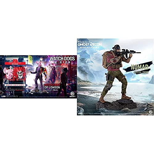Watch Dogs Legion - The Resistant of London [26 cm] & Tom Clancy's Ghost Recon Breakpoint - Nomad Figur (23 cm)