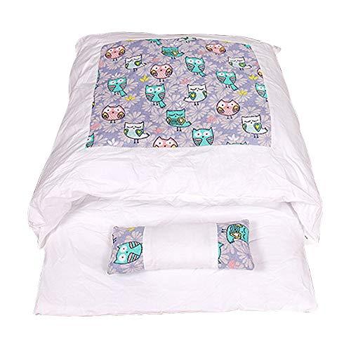 laamei Cama para gatos, saco de dormir cerrado para mascotas, nido, lavable, mullida, para invierno, con cojín (lila, L 65 x 50 cm)