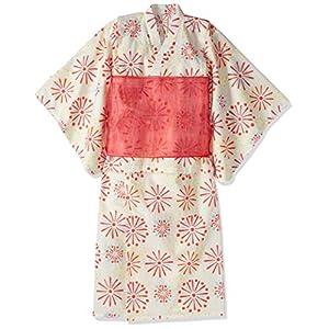 [アリスマジック] [ALICE MAGIC] 浴衣 こども 女の子 5217845、セパレート浴衣 ベージュ 日本 140cm (日本サイズ140 相当)
