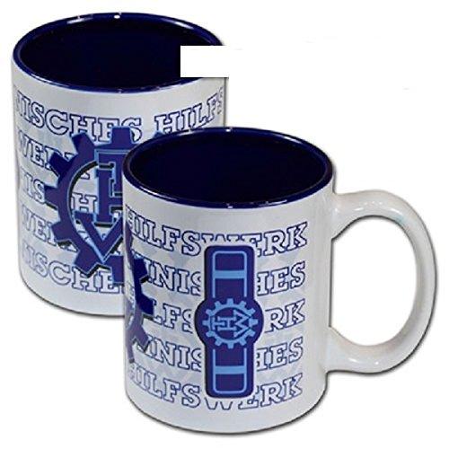 Schwemmlein THW Kaffeetasse Tasse mit Dienststellungskennzeichen - Truppführer - 95x110mm
