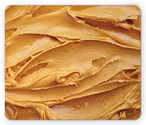 Pindakaas Muismat, Romig Pindakaas Klassiek Amerikaans Ontbijt Thema Gezond Voedsel Ontwerp Rechthoek Antislip Rubber Mousepad Bleek - 9,5 x 7,9 inch