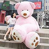 Osito Gigante de Peluche (130 cm a 340 cm) 5 Colores Disponibles (Beige - Gris - Marrón - Blanco - Rosa) Enorme Osito de Peluche (Rosa, 200 cm)