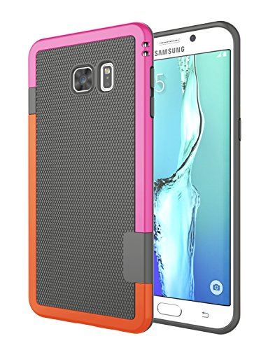 Galaxy S6 Edge Plus Case, Jeylly [3 Color] Slim Hybrid Impact Rugged Soft TPU & Hard PC Bumper Shockproof Protective Anti-Slip Case Cover Shell for Samsung Galaxy S6 Edge+ Plus G928 - Gray