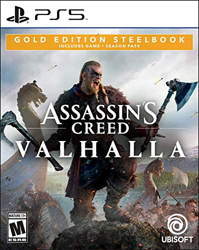 Assassin's Creed Valhalla PlayStation 5 Gold Steelbook Edition