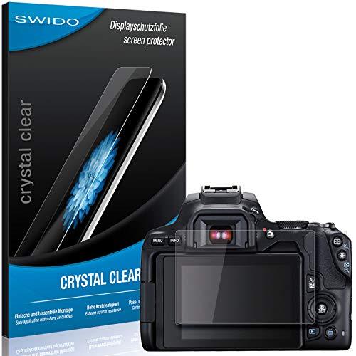 SWIDO Schutzfolie für Canon EOS 250D [2 Stück] Kristall-Klar, Hoher Härtegrad, Schutz vor Öl, Staub und Kratzer/Glasfolie, Displayschutz, Displayschutzfolie, Panzerglas-Folie