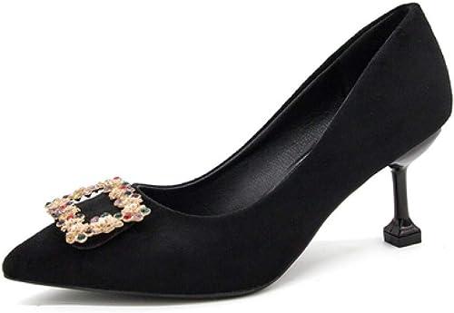 FEKFKOP Mode Strass Brillants Bouche Fine Chaussures de de Mariage Chaussures de Mariage Rouge Sauvage Stiletto Chaussures de Demoiselle d'honneur, Noir  commandez maintenant avec gros rabais et livraison gratuite