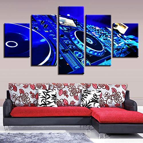 ZSYNB 5 canvas schilderijen HD Gedrukt Canvas Muurfoto's Posters 5 Panel luidspreker Box Stereo Art Schilderen Modulaire Home Decor Woonkamer