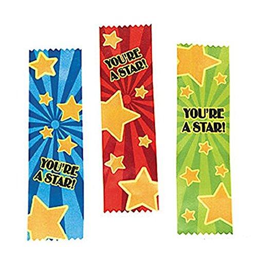 Fun Express Satin Youre a Star! Award Ribbons (24 Pack)