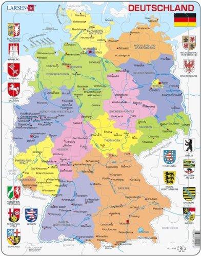 Deutschland, politisch (Rahmenpuzzle)