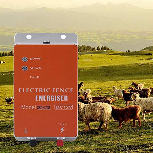 Cerca eléctrica Controlador de pulso de alto voltaje seguro Granja de animales Cerca eléctrica Pastor Cría de animales Controlador eléctrico de esgrima