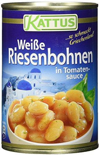 Kattus Weiße Riesenbohnen in Tomatensauce, 2er Pack (2 x 400 g)*