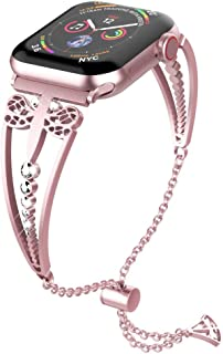 UooMoo Women Band Compatible Apple Watch 38mm 40mm, Fancy Dragonfly Style Bracelet Strap Apple Series 1 2 3 4 5 for Ladies...