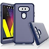 WeLoveCase for LG V20 Case, Heavy Duty High Impact Defense Shield Hard PC Outer Shell with Inner Soft Rubber Hybrid 3 in 1 Combo Full-Body Armor Protective Case for LG V20 Navy Blue