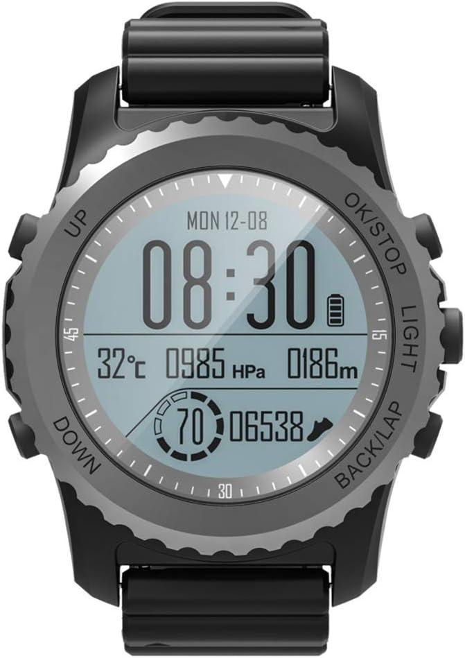 Reloj inteligente con GPS para deportes al aire libre, pantalla LED Reloj profesional a prueba de agua, Reloj deportivo digital para hombre Relojes de pulsera militares a prueba de agua con podómetr