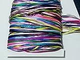 Roshanara 80 metros de cinta de raso de 4 m cada uno de 20 colores, cinta de raso de 3 mm, cinta de regalo, cinta de tela para boda, agradecimiento, cumpleaños, Navidad