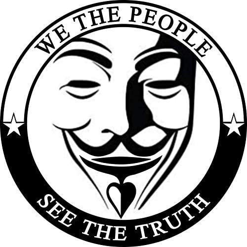 We The People Know The Truth Bumper Sticker – Premium Vinyl Decal 3 x 3″ inch | for Cars Bumpers Windows Auto-mobiles Helmets Vehicles Motorcycles Bottles Sign + Better Than Magnets Sticks Anywhere