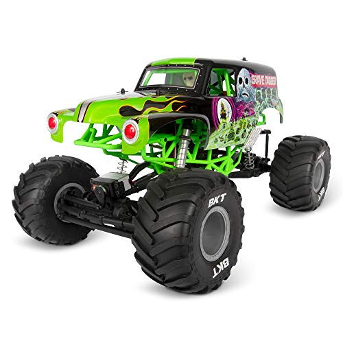 Axial SMT10 Grave Digger RC Monster Truck RTR with 2.4GHz Radio Transmitter System (Battery and Charger Not Included): 1/10 Scale AXI03019, Black & Green