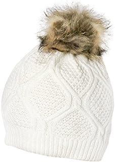 Beaute Fashion Women's Pom Beanie Hat with Faux Fur Pom Pom Fleece Lined, USA COMPANY