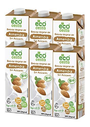 Ecocesta bebida vegetal de almendra sin azúcar Bio 6 X 1L