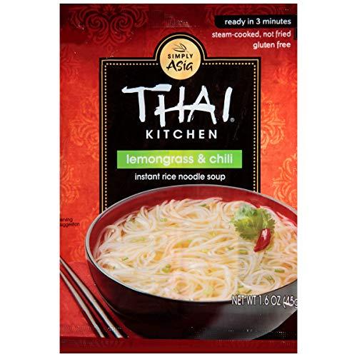 Thai Kitchen Instant Rice Noodle Soup, 1.6 OZ (Lemon Grass And Chili, Pack - 6)