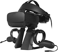 Esimen VR Stand for Oculus Quest 2/Quest/Oculus Rift S Controllers VR Gaming Headset Holder Display Mount Station(Black1