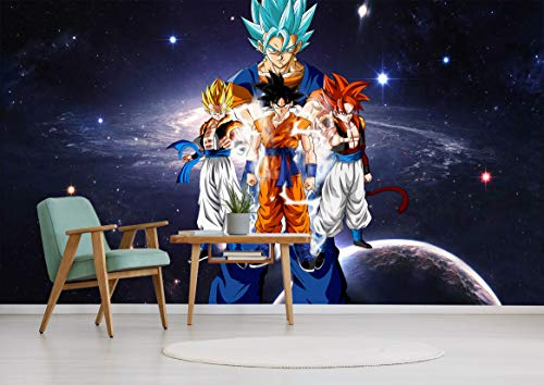 """3D Dragon Ball Kakarotto 237 Japan Anime Tapeten Drucken Spiel Karikatur Cosplay Wandgemälde Selbstklebend Tapete MXY WALLPAPER DE Wendy (gewebt Papier (Notwendigkeit Leim), 【 82""""x58""""】208x146cm(BxH))"""