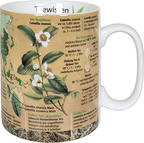 Tasse Becher Teewissen Wissensbecher 490 ml Kaffeetasse Kaffeebecher Spülmaschinenfest