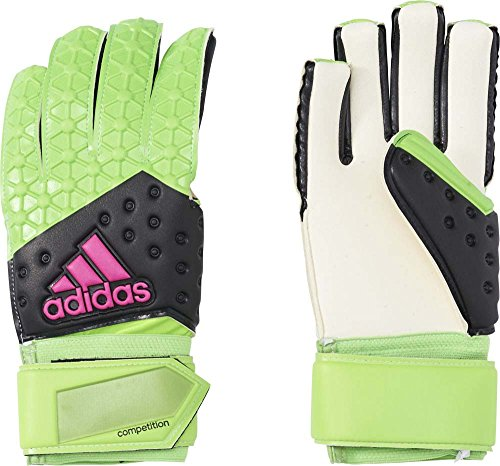 adidas Herren Torwarthandschuhe ACE Competition, Solar Green/Core Black/Shock Pink S16/White, 8