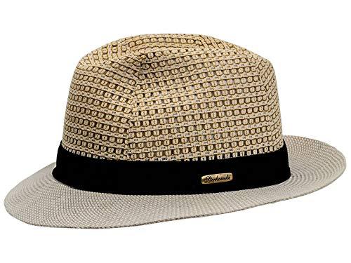 Sterkowski ajouré et lin cousu d'été Fedora Chapeau de soleil Baltica - Beige - petit