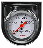 Actron SP0F000045 Bosch Style Line 2' Mechanical Water/Oil Temperature Gauge (White Dial Face, Chrome Bezel)
